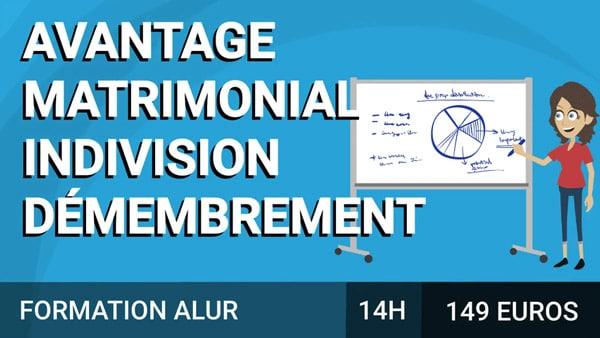 Démembrement / Indivision / Avantage matrimonial course image
