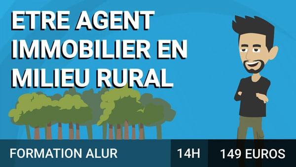 Etre agent immobilier en milieu rural course image